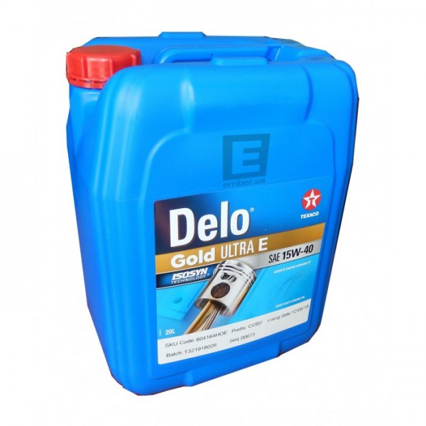 ΛΙΠΑΝΤΙΚΟ TEXACO DELO GOLD ULTRA E SAE 15W-40 20L